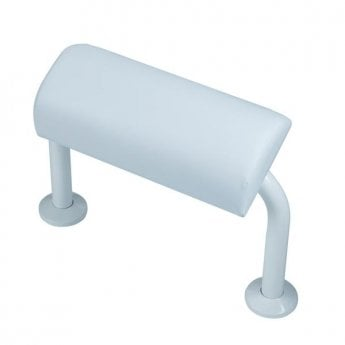 Bristan Aluminium Back Rest Rail and Pad, DocM White