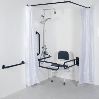 Bristan DocM Showering Pack with TMV3 Thermostatic Shower Kit - White