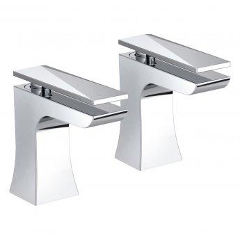 Bristan Ebony Modern Bath Taps - Chrome