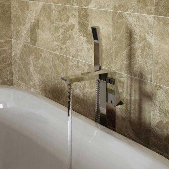 Bristan Ebony Bath Shower Mixer Tap, Freestanding, Chrome
