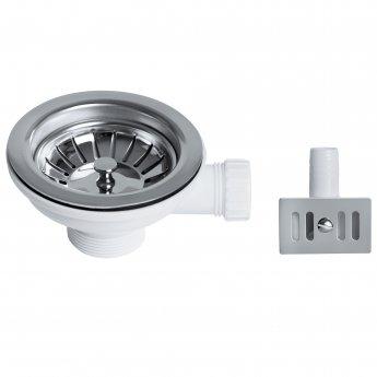 Bristan Economy Kitchen Sink Waste, Basket Strainer and Overflow, Chrome