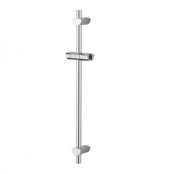 Bristan Evo Adjustable Shower Riser Rail, 660mm High, Chrome
