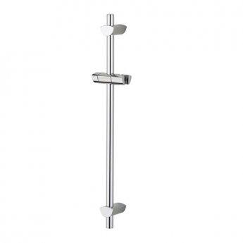 Bristan Evo Adjustable Shower Riser Rail, 660mm High, Chrome