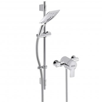 Bristan Exodus Thermostatic Exposed Mixer Shower with Shower Kit
