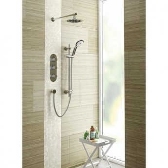 Bristan Exodus Triple Concealed Mixer Shower with Shower Kit + Fixed Head