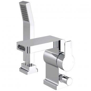 Bristan Exodus 2-Hole Bath Shower Mixer with Kit, Deck Mounted, Chrome