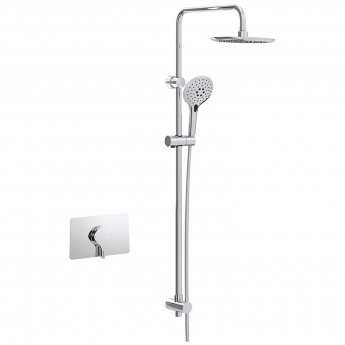 Bristan Flute Sequential Concealed Mixer Shower with Shower Kit + Fixed Head