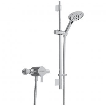 Bristan Flute Sequential Exposed Mixer Shower with Shower Kit