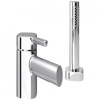 Bristan Flute 2-Hole Bath Shower Mixer with Kit, Pillar Mounted, Chrome