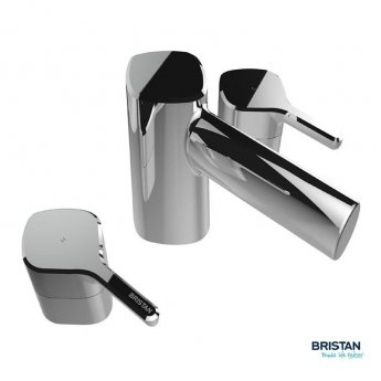 Bristan Flute 3-Hole Bath Filler Tap, Deck Mounted, Chrome