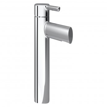Bristan Flute Tall Basin Mixer Tap Pillar Mounted with Clicker Waste - Chrome