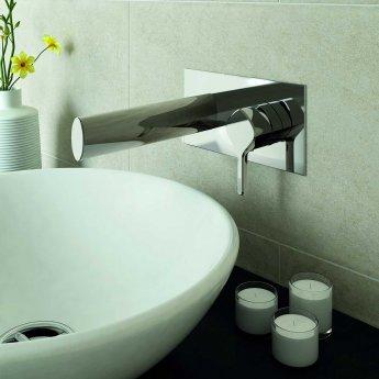 Bristan Flute Basin Mixer Tap, Wall Mounted, Chrome
