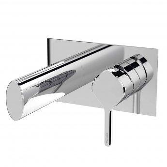 Bristan Flute Bath Filler Tap, Wall Mounted, Chrome