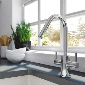 Bristan Inox Easyfit 1.5 Bowl Universal Kitchen Sink with Cashew Tap 1000mm L x 500mm W Stainless