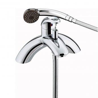 Bristan Java Single Lever Pillar Bath Shower Mixer Tap - Chrome Plated