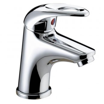 Bristan Java Small Mono Basin Mixer Tap with Clicker Waste - Chrome Plated