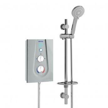 Bristan Joy Thermostatic Electric Shower, Metallic Silver, 8.5kW