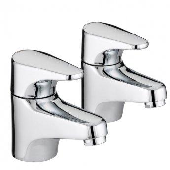 Bristan Jute Bath Taps - Chrome Plated