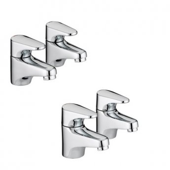 Bristan Jute Basin Taps and Bath Taps, Chrome