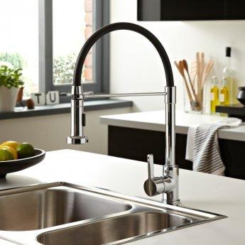 Bristan Liquorice Mono Kitchen Sink Mixer Tap, Pull-Down Spray, Chrome