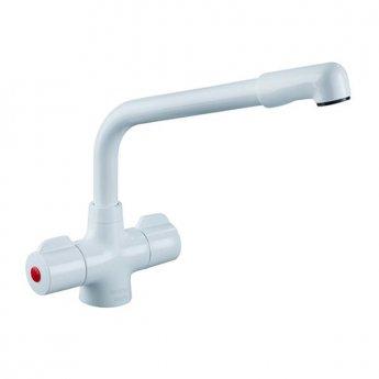 Bristan Manhattan EasyFit Mono Kitchen Sink Mixer Tap, Dual Handle, White