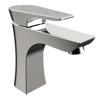 Bristan Metallix Hourglass 1 Hole Bath Filler Tap - Silver Sparkle