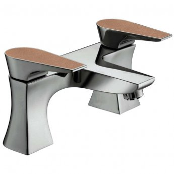 Bristan Metallix Hourglass Bath Filler Tap - Copper Radiance