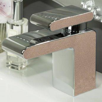 Bristan Metallix Pivot Basin Mixer Tap with Clicker Waste - Copper Radiance