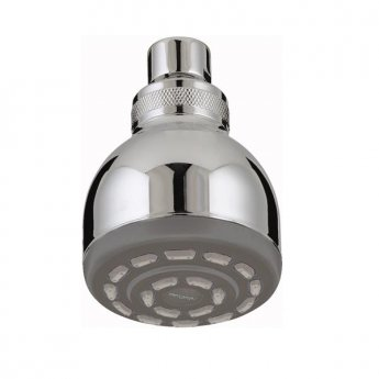 Bristan Mini Single Function Fixed Shower Head, 70mm Diameter, Chrome