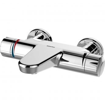 Bristan OPAC Thermostatic Wall Mounted Bath Filler Tap with Handwheels Chrome