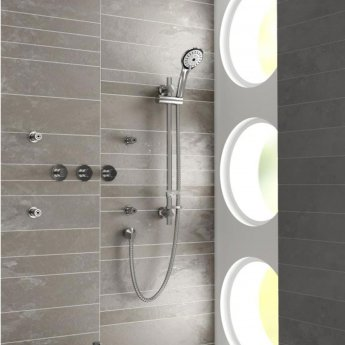 Bristan Orb Thermostatic Triple Concealed Mixer Shower with Kit + Fixed Head + Body Jets