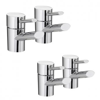Bristan Oval Basin Taps and Bath Taps, Chrome