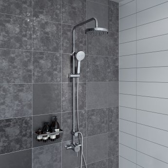 Bristan Prism Sequential Exposed Mixer Shower with Shower Kit + Fixed Head