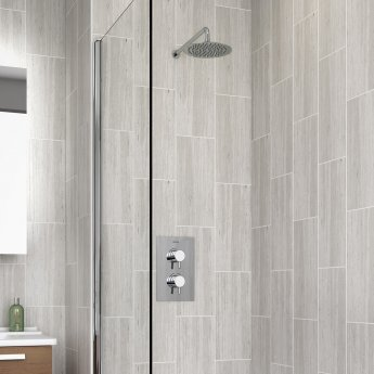 Bristan Prism Dual Concealed Mixer Shower with Fixed Head + Bath Filler