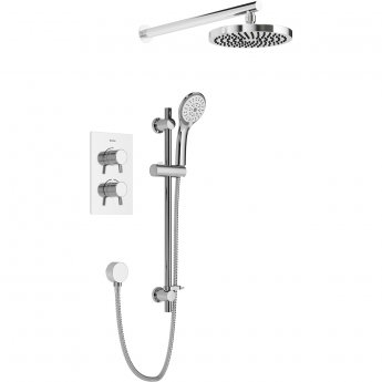 Bristan Prism Dual Concealed Mixer Shower with Shower Kit + Fixed Head