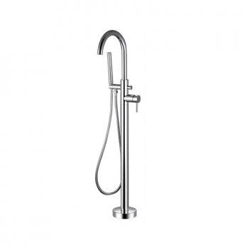 Bristan Prism Bath Shower Mixer Tap, Floor Mounted, Chrome