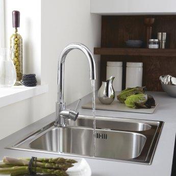 Bristan Prism Mono Kitchen Sink Mixer Tap - Chrome