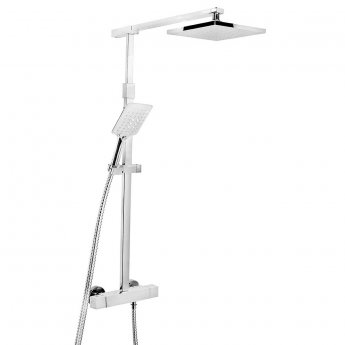 Bristan Quadrato FastFit Bar Mixer Shower with Shower Kit + Fixed Head