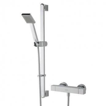 Bristan Quadrato FastFit Bar Mixer Shower with Shower Kit