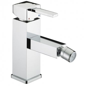 Bristan Quadrato Bidet Mixer Tap with Pop Up Waste - Chrome