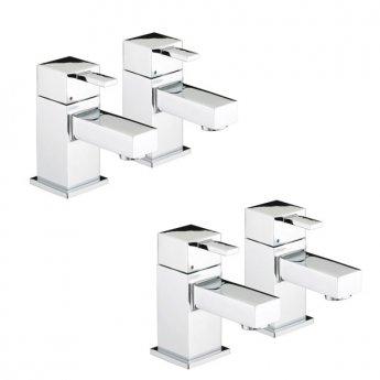Bristan Quadrato Basin Taps and Bath Taps, Chrome
