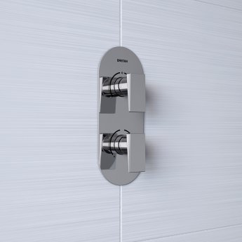 Bristan Sail Thermostatic Recessed Dual Control Shower Valve Only - Chrome