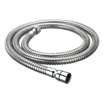 Bristan Cone to Nut Stainless Steel Shower Hose, 1.5m, 8mm Bore, Chrome