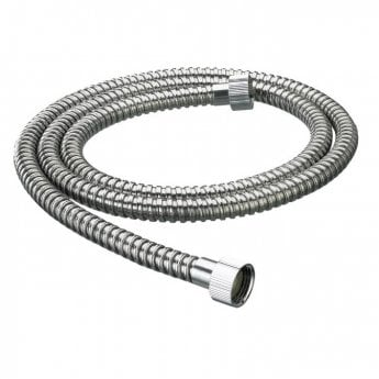 Bristan Nut to Nut Stainless Steel Shower Hose, 1.5m, 8mm Bore, Chrome