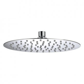Bristan Slimline Round Fixed Shower Head, 250mm Diameter, Chrome