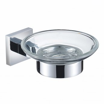 Bristan Square Brass Soap Dish, Chrome Plated