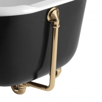 Bristan Traditional Exposed Bath Waste, with Overflow, Gold