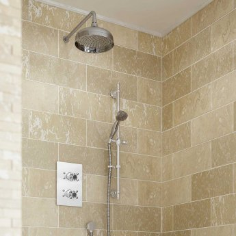 Bristan Trinity Dual Concealed Mixer Shower with Shower Kit + Fixed Head