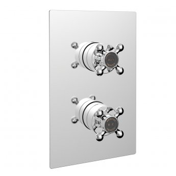 Bristan Trinity Recessed Thermostatic Shower Valve Dual Handle - Chrome