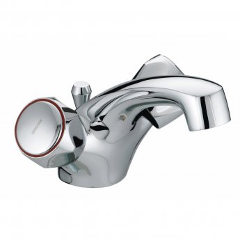 Bristan Value Club Dual Flow Basin Mixer Tap with Pop Up Waste - Chrome